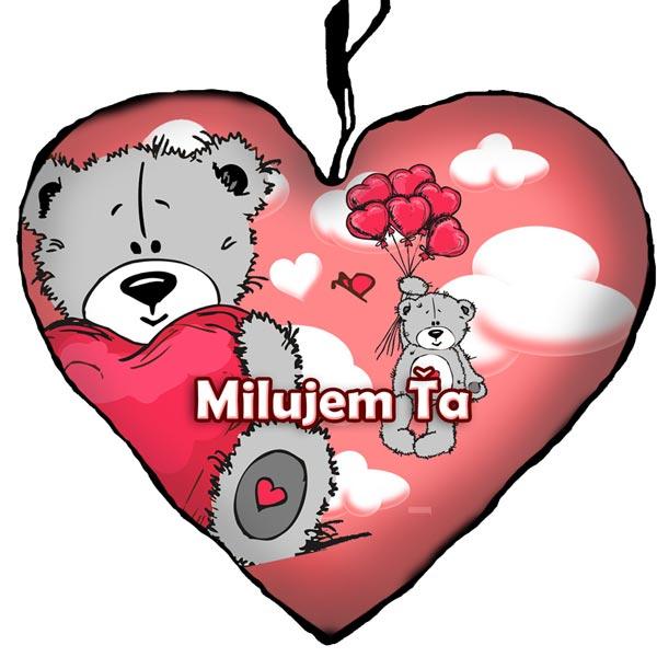 1dcc3e861981 Valentínske darčeky – Vankúš macko Milujem ťa 23cm empty